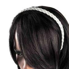 Accessoires de coiffure bandeaux blancs en plastique pour femme