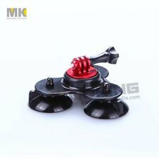 Triple Car Suction Cup Window Glass Car Sucker Mount Holder For GoPro Hero 5 4 3