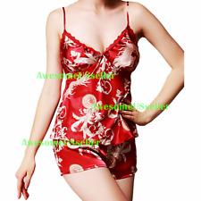 Sexy Lingerie Babydoll Underwear Women's Sleepwear Chemise Nightwear Lace Satin
