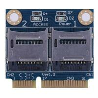 Mini PCIE Memory Card Adapter PCI-E to Dual TF SDHC SDXC Reader Converter SN9F