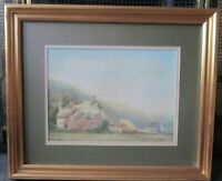 ANTIQUE/OLD WATERCOLOUR PAINTING OF A LANDSCAPE WITH A COTTAGE SIGNED S.PROUT