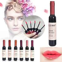 Red Wine Lip Tint Liquid Matte Lipstick Waterproof Design Wine Bottle Fashion Jʌ