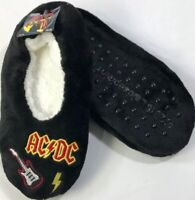 AC/DC  SLIPPERS  SIZE  S/M  5 / 7 Black New with Tags NWT
