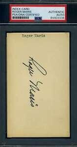 Roger Maris PSA DNA Coa Signed 3x5 Index Card Autograph