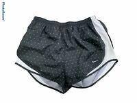 Woman's NIKE Black Athletic Shorts Tempo Triangles Bottoms Size Medium M