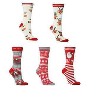 Socks Ladies Christmas Socks Novelty Cartoon Xmas Party Reindeer Santa Gifts NEW