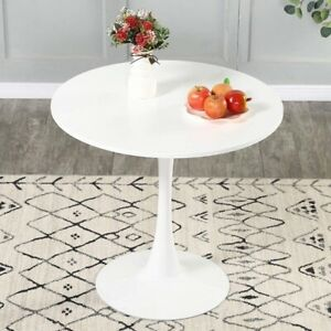 """Modern White Dining Set - 32"""" Round Table w/ 4 Padded Chairs - LOCAL PICKUP ONLY"""