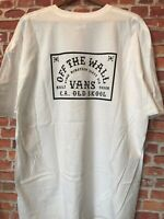 VANS Off The Wall T Shirt Mens 2XL White CA Old Skool New