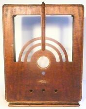 vintage PHILCO MODEL 60 or 505 RADIO TOMBSTONE part:    sanded WOOD SHELL