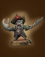 40 mm painted miniature Captain Davy Big Claw Pirates of the Caribbean resin kit