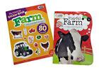 Farm Animals Coloring Book Sticker Books Set Fun Farm Equipment Educational Lot