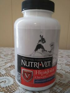 90 Count Nutri-Vet Hip & Joint Advanced Strength Chewables for Dogs