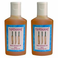 2 x Opttiuuq Pure Raw Linseed Oil For Cricket Bats 2 x 50ml bottles. 100ml total