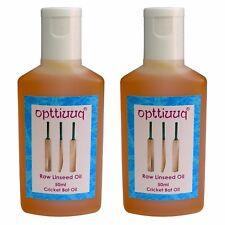 2 x opttiuuq PURO OLIO DI LINO CRUDO PER Cricket pipistrelli 2 x 50ml Bottiglie. totale 100ml