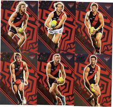 2018 AFL SELECT LEGACY ESSENDON BOMBERS  HOLOGRAPHIC FOIL PARALLEL 6 CARDS