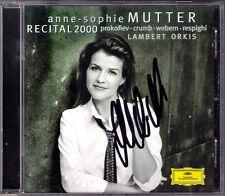 Anne-Sophie MUTTER Signed RECITAL 2000 RESPIGHI PROKOFIEV Sonata WEBERN CRUMB CD