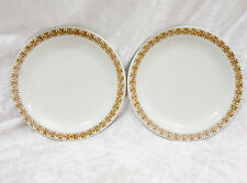 "Bristile / Wembley ware - 2 Side Plates (6 1/2"") brown scroll pattern"