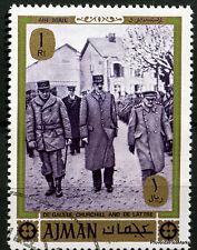 AJMAN  CHARLES DE GAULLE GENERAL FRANCAIS   TIMBRE VIGNETTE 88M320