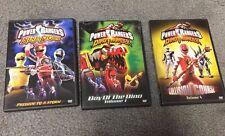 Power Rangers Ninja Storm and Dino Thunder DVD's