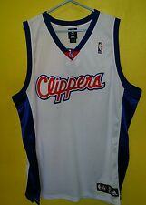 NEW NBA Los Angeles Clippers White Adidas Embroidered Jersey sz 52 2XL
