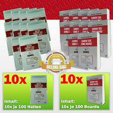 Comic Concept Sparpaket 1000x Deluxe Current Size Bags (selbstkl.) + Boards