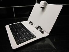 "Grafite Grigio/argento USB Keyboard Custodia/Supporto per 7"" Coby Kyros Tablet PC Android"