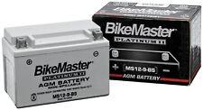 BikeMaster Ms12-20L-Bs Agm Platinum Ii Battery Ms12-20L-Bs(Fits: Mastiff)