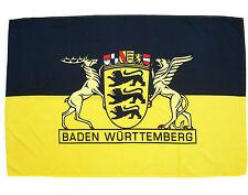 Fahne Baden Württemberg Querformat 90x150 cm mit großem Landessiegel  Hissflagge