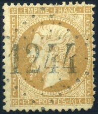 FRANCE EMPIRE N°21 OBLITÉRATION GC 1244 CUBJAC DORDOGNE