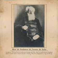 PHOTO PRESSE c. 1912 - Mort de William Booth Fondateur Armée du Salut  UK - 157