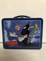 2003 Disney Best Buy Metal Tin PETER PAN LUNCHBOX Wendy Tinker Bell Captain Hook