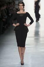 $750 La Petite Robe Chiara Boni Solyn Mesh Peplum Black Dress Size 6 42 Italy