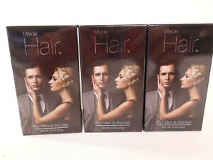 Lot of  3 Miracle Hair For Men and Women Hair Loss Concealer Black 25g/.8oz