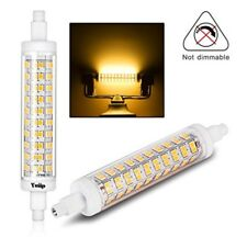 Yuiip R7S LED 118MM 10W, 110W Halogen Light Bulbs Warm White 2PK x2, BNIB,PD (I)