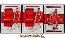 16-17 Jakob Poeltl - Cory Joseph National Treasures RC Patch & Base - 3 Card Lot