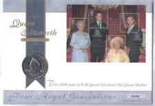 England THE QUEEN MOTHER 100TH BIRTHDAY COIN with FDC 2000