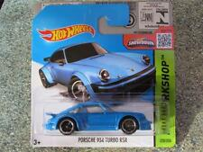 HOT WHEELS 2015 #220/250 PORSCHE 934 Turbo RSR Blu Hw Workshop CASE F