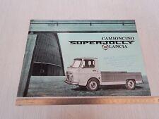 DEPLIANT BROCHURE ORIGINALE LANCIA SUPER JOLLY SUPERJOLLY 1963 SVAT PROSPEKT