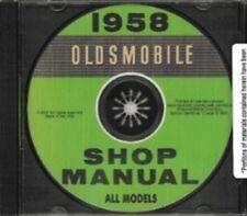 Oldsmobile 1958 Shop Manual Cd 98, Dynamic & Super 88