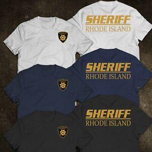 NEW Sheriff Rhode Island Police United States T-Shirt