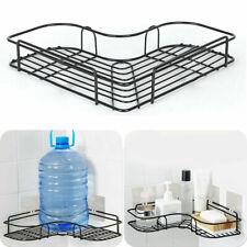Bathroom Corner Storage Rack Durable Shower Shelf Holder Basket Tidy Punch-Free