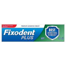 Fixodent Plus Dual Protection Denture Adhesive Cream Foodseal Antibacterial, 40g