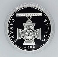 Canada 2006 Victoria Cross Medal .9999 Silver $1.00 One Dollar Coin Proof