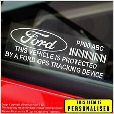 4 x FORD PERSONALISED GPS Tracking Device-Security Stickers-Alarm-Tracker,Car