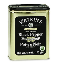 Watkins All Natural Gourmet Spice Tin Pure Ground Black Pepper 6 Ounce