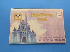Vintage Souvenir Postcard Folder Walt Disney World S301