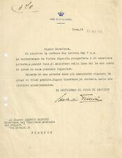 Corte di Sua Maestà la Regina Elena di Montenegro Firma del Conte di Trinità