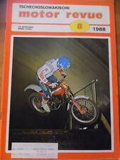 Tschechoslowakische MOTOR REVUE Nr. 8 - 1988 * Jawa Velorex Skoda 135 Wikov 40