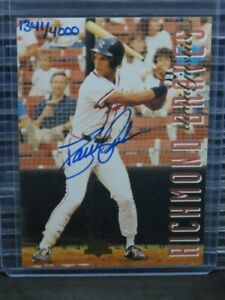 1994 Classic Best Gold David Justice RC Auto #1341/4000 Braves G57