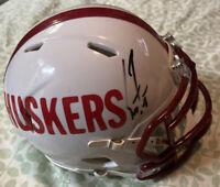 Scott Frost Autographed Nebraska Cornhuskers Custom Mini Helmet JSA COA GBR 1997